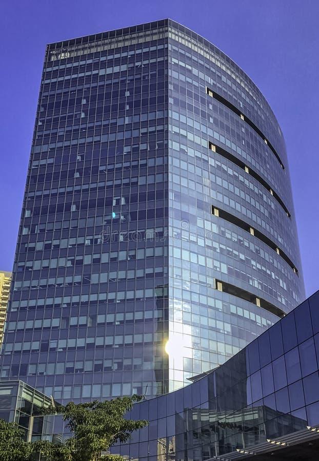 网络城市/Cyberhub建筑学在古尔冈,新德里,印度 免版税库存照片