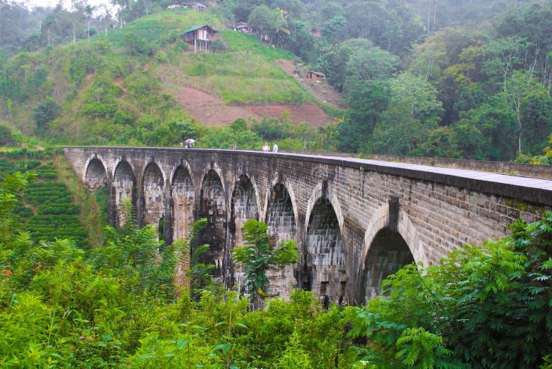 美丽的九曲拱在斯里兰卡 图库摄影