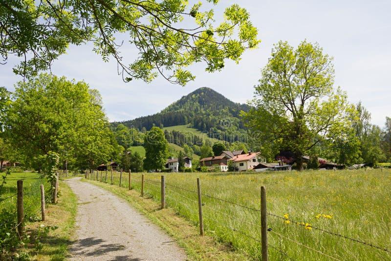 美好的供徒步旅行的小道schliersee区域 库存图片