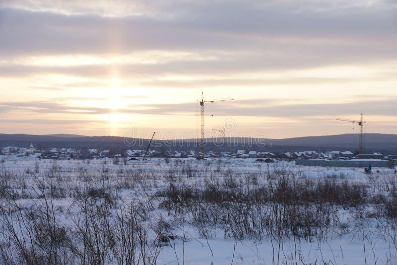 美妙的风景在冬日 库存照片