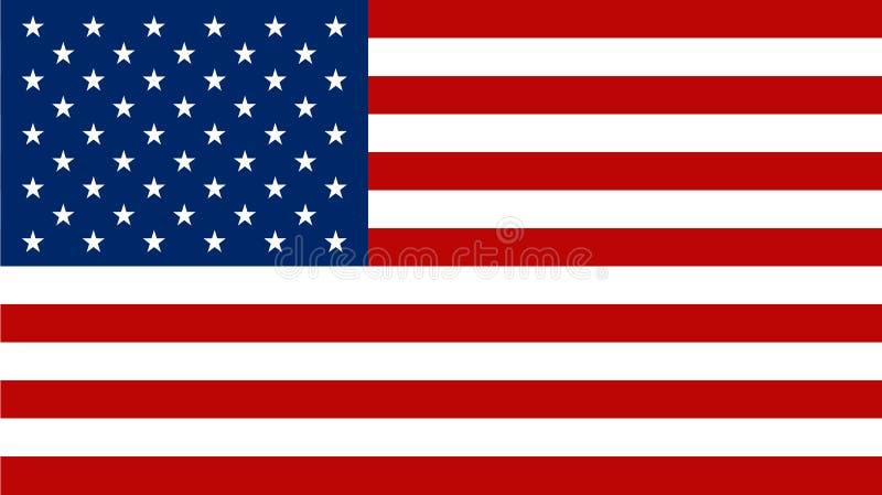美国国旗传染媒介象 向量 库存例证