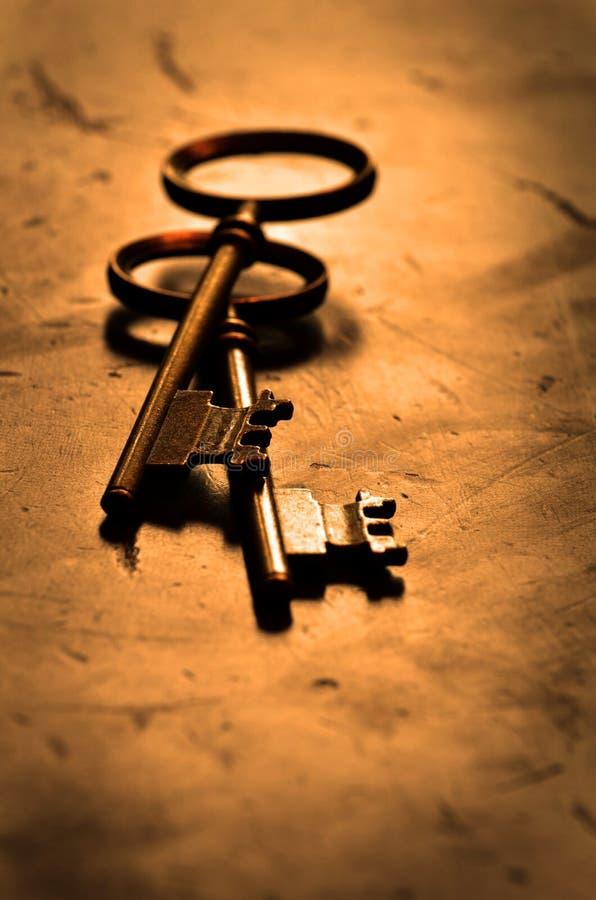 知识和成功的钥匙 库存照片
