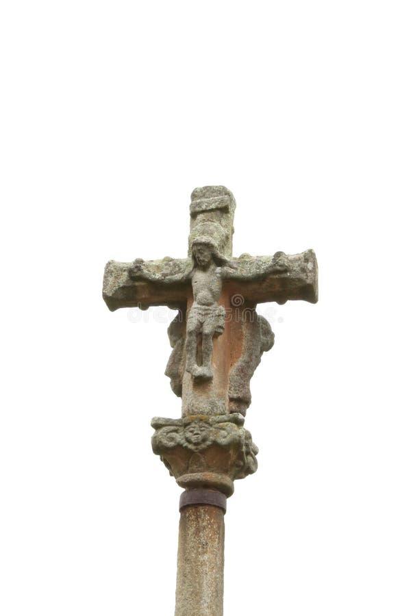 石十字架在蓬特韦德拉 免版税库存图片