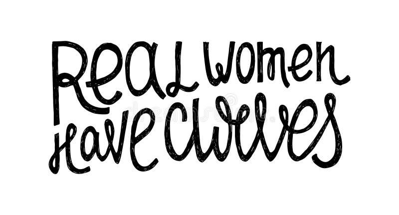 真正的女人有曲线 向量例证