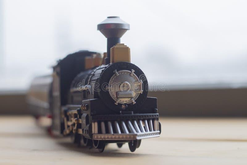 玩具蒸汽引擎模型 免版税库存图片