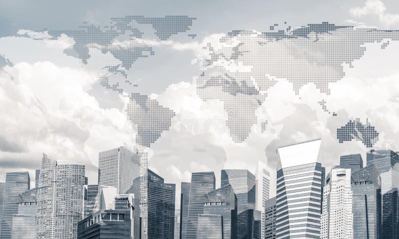 现代城市和社会网作为概念全球性网络的 皇族释放例证