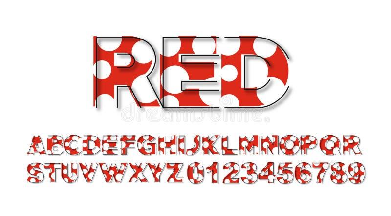 现代抽象字体套字母表文本设计 皇族释放例证