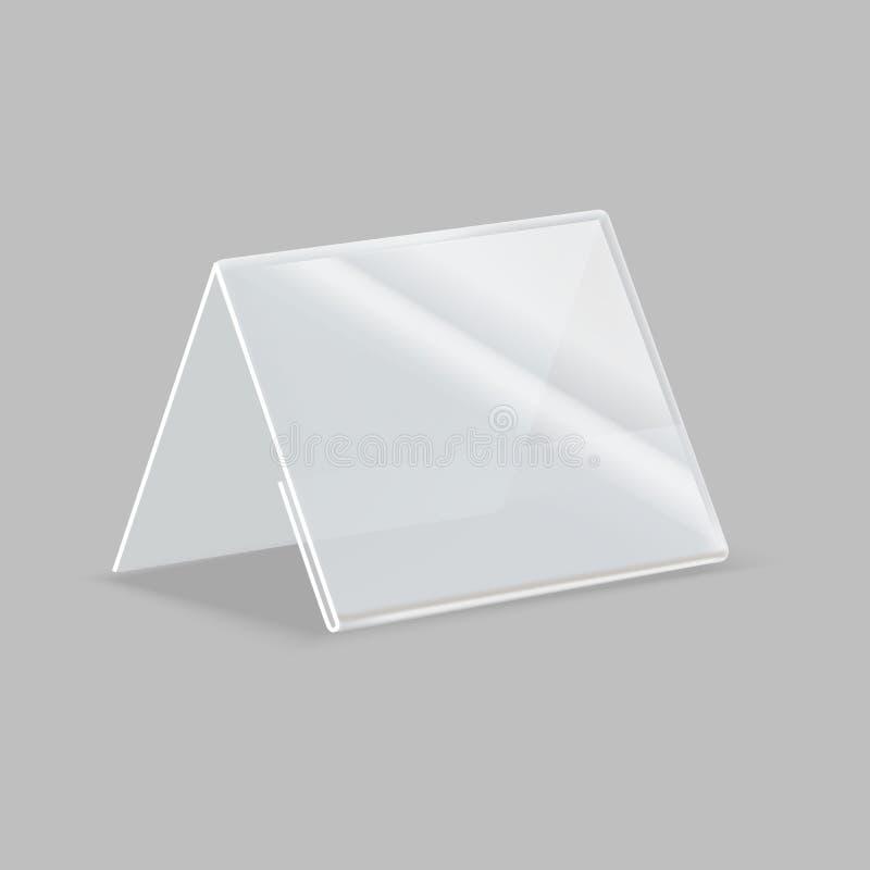 现实详细的3d空的塑料持有人 向量 库存例证