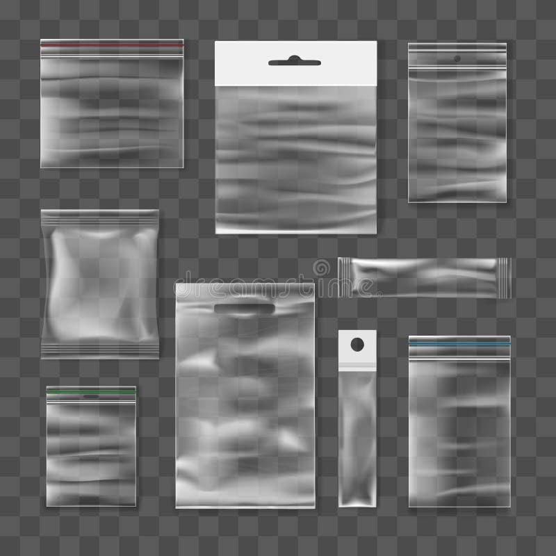 现实透明塑料组装 向量例证