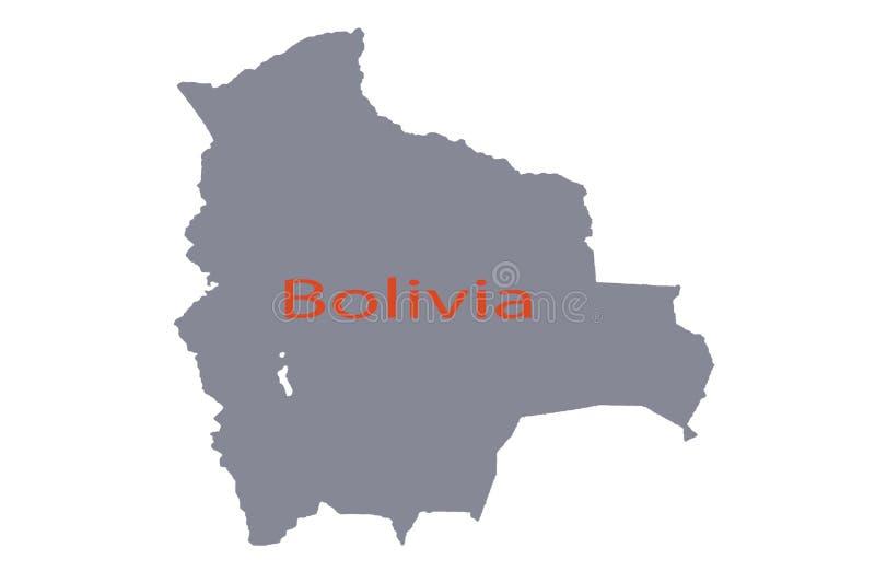 玻利维亚地方政治政治路海南世界地图 向量例证