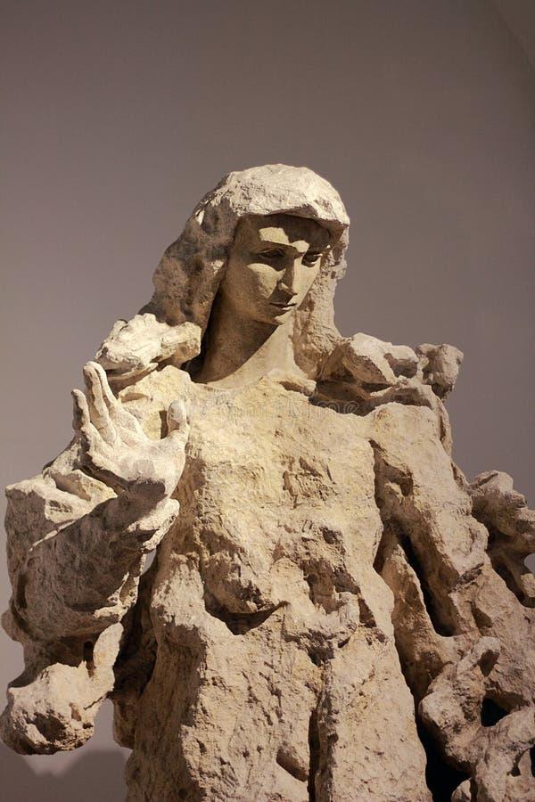 玛丹娜卢齐欧・封塔纳在梵蒂冈博物馆 免版税库存照片