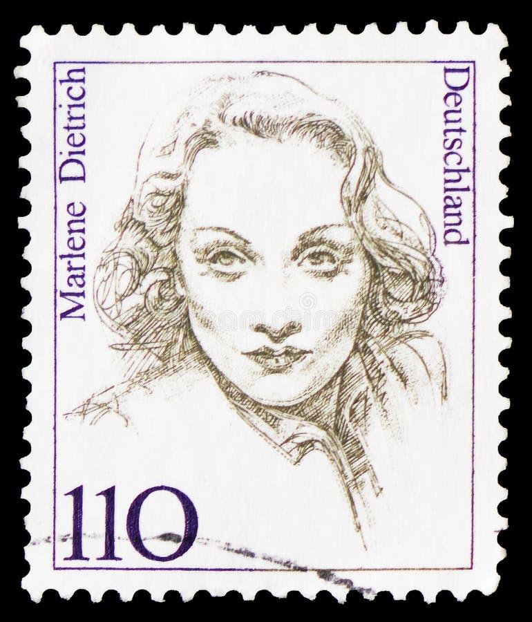 玛莲娜・迪特里茜(1901-1992),女演员和歌手,德国历史serie的妇女,大约1997年 免版税库存照片