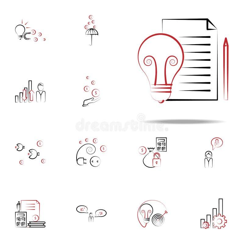 烙记的想法象 网和机动性的企业和管理象全集 库存例证