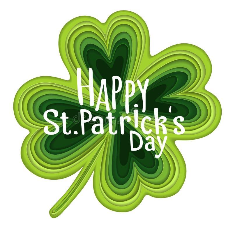 爱尔兰幸运的圣帕特里克的天假日元素 库存例证