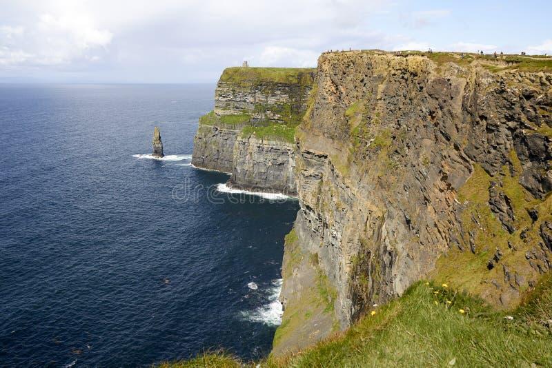 爱尔兰的莫赫悬崖 免版税库存图片