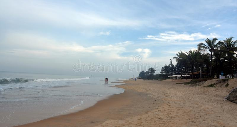 瓦尔恰海滩早晨 免版税图库摄影