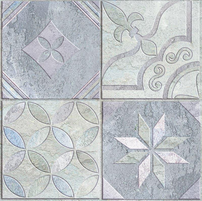 瓦片设计 陶瓷墙壁和地板 库存图片