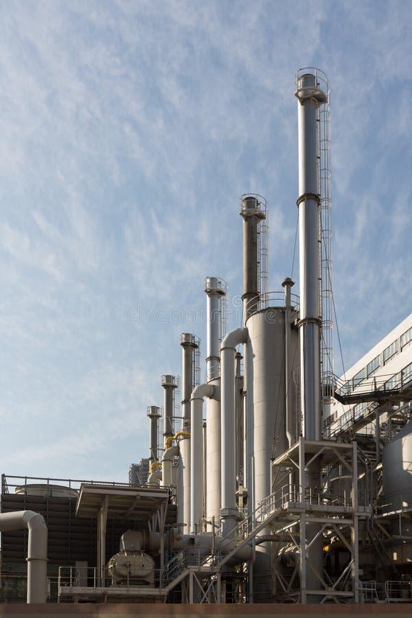 燃气天然气加工厂 图库摄影