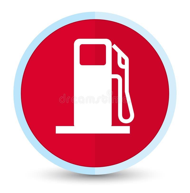 燃料分配器象平的头等红色圆的按钮 皇族释放例证