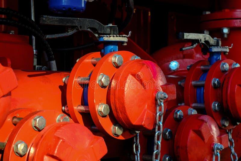 特写镜头煤气管线 免版税库存图片