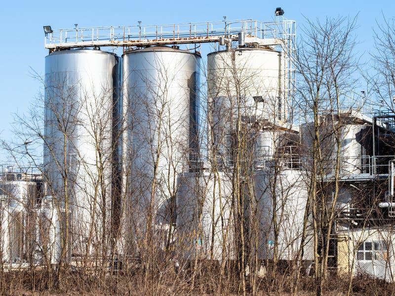 牛奶店工厂在切尔托萨迪帕维亚镇 免版税库存照片