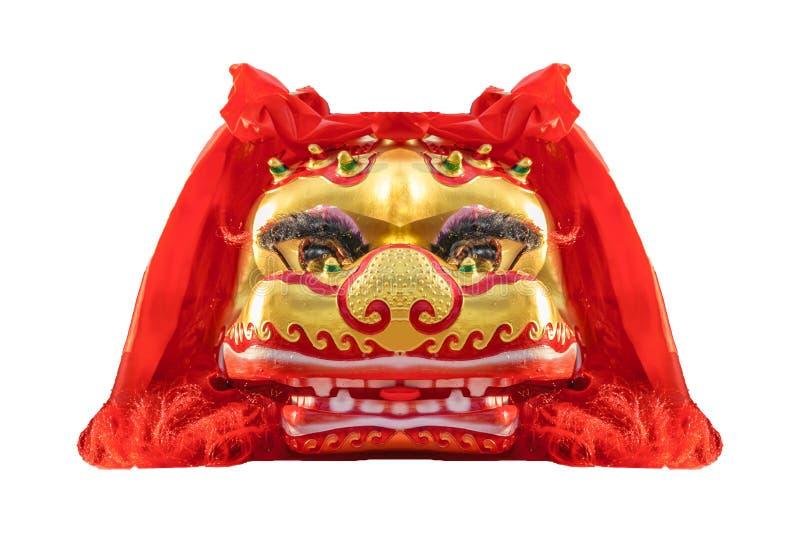 狮子顶头面具,农历新年,蒙得维的亚,乌拉圭 免版税库存照片