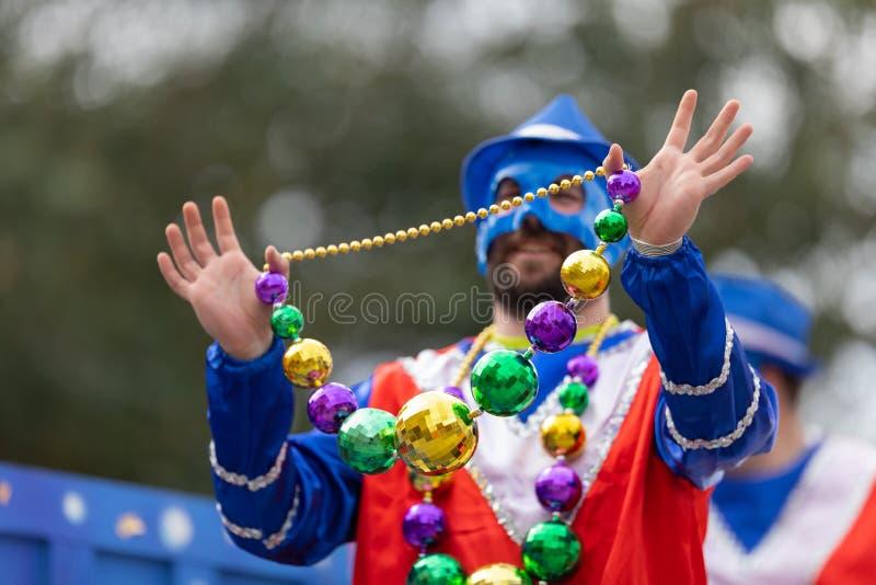 狂欢节游行新奥尔良 库存图片