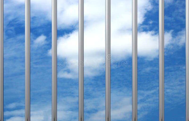 监狱酒吧天空3D 皇族释放例证