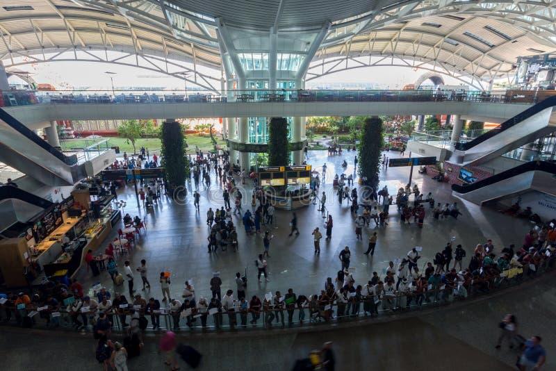 登巴萨国际机场,巴厘岛,印度尼西亚 免版税库存照片
