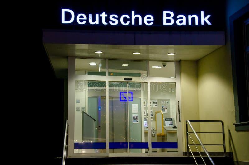 索斯特,德国- 2018年12月12日:德银 免版税库存照片