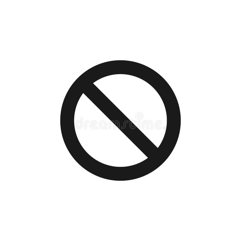 用户禁令取消象 标志和标志可以为网,商标,流动应用程序,UI,UX使用 皇族释放例证