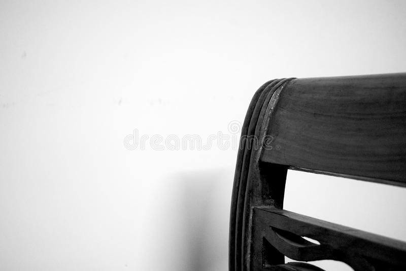 用餐椅子的黑白图片 库存图片