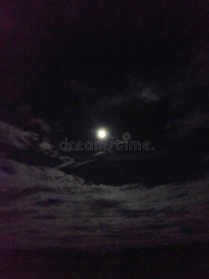 由月亮的光 免版税图库摄影