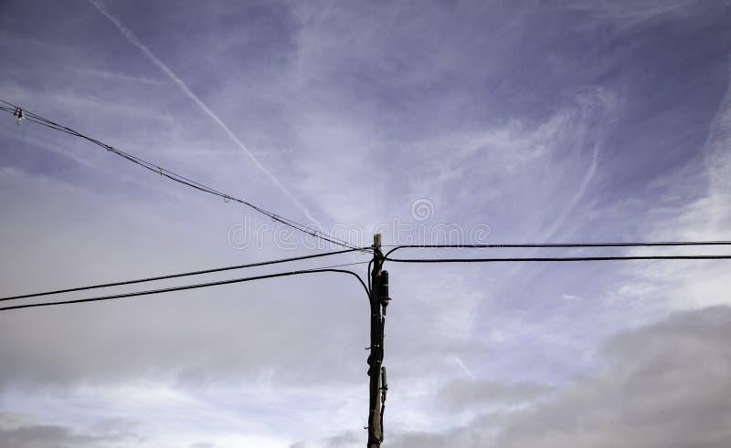 电塔天空 图库摄影
