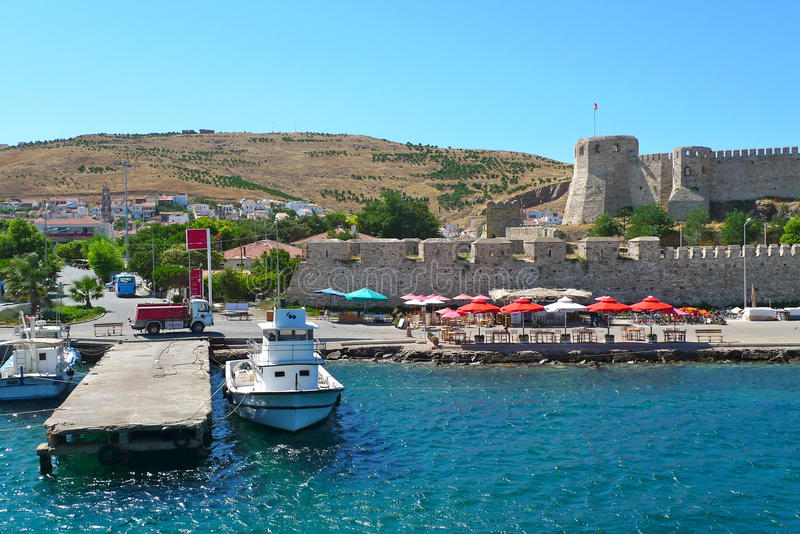 Canakkale and castle views royalty free stock photography