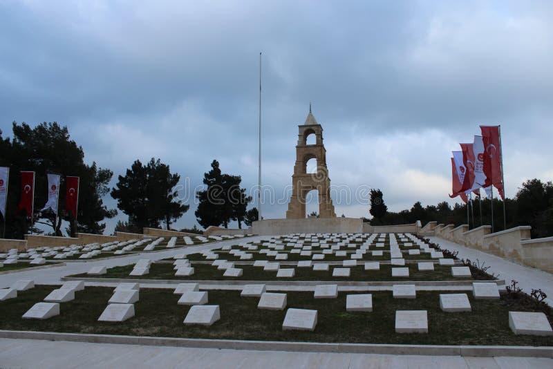 57 Regiment of Cemeteries and Monument. Çanakkale Gelibolu 57 Regiment of Cemeteries and Monument stock images