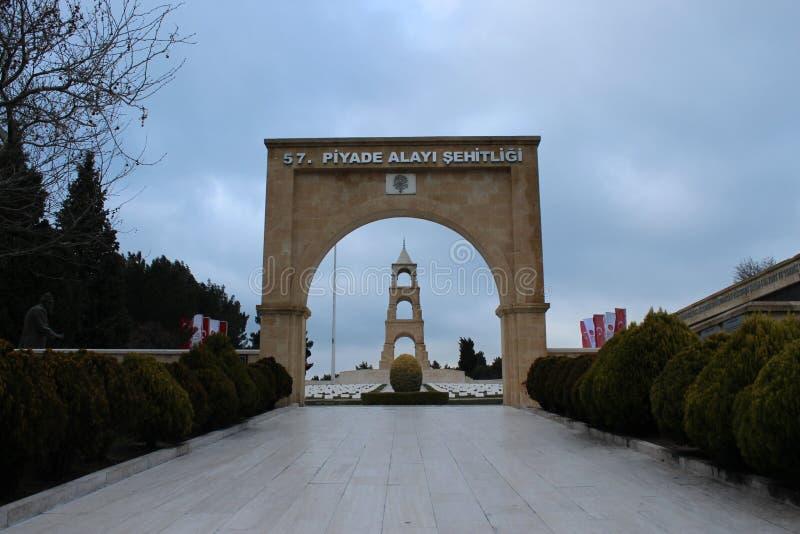 57 Regiment of Cemeteries and Monument. Çanakkale Gelibolu 57 Regiment of Cemeteries and Monument stock photos