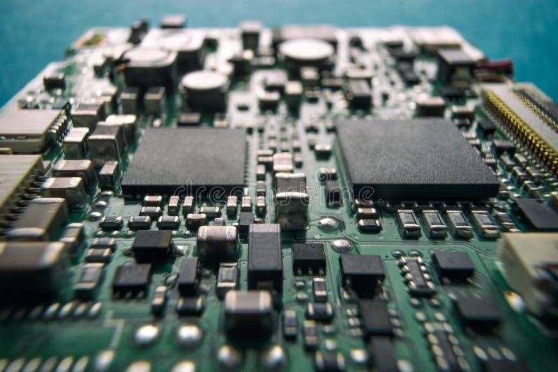 联合半导体微集成电路或微处理器 高技术产业 免版税库存图片