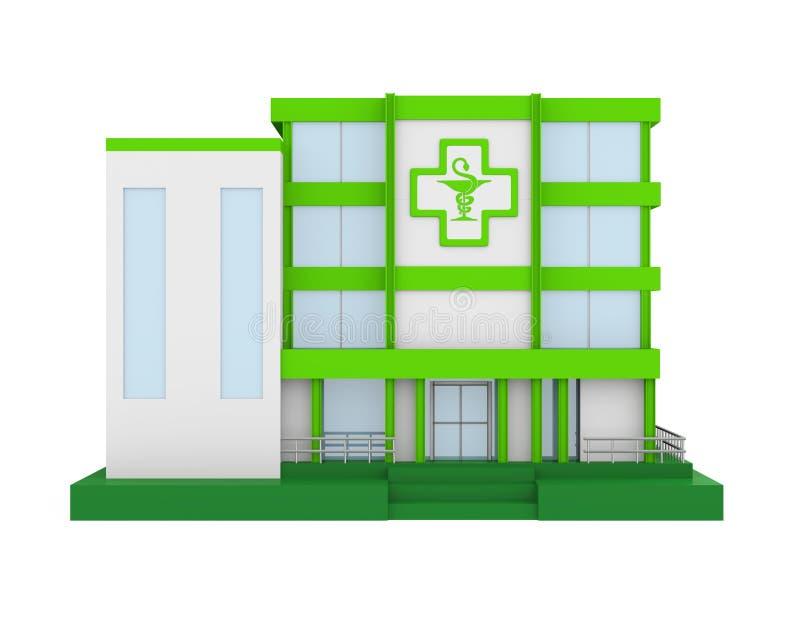 药房大厦隔绝了 向量例证