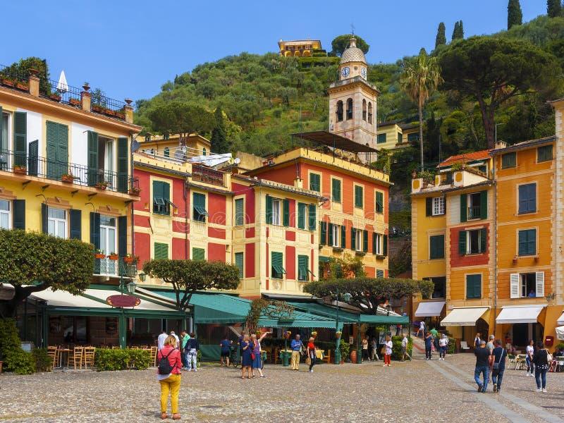 菲诺港的看法在意大利 库存图片