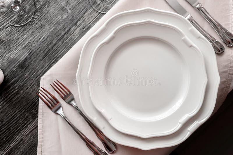 表商品在餐馆 免版税库存照片