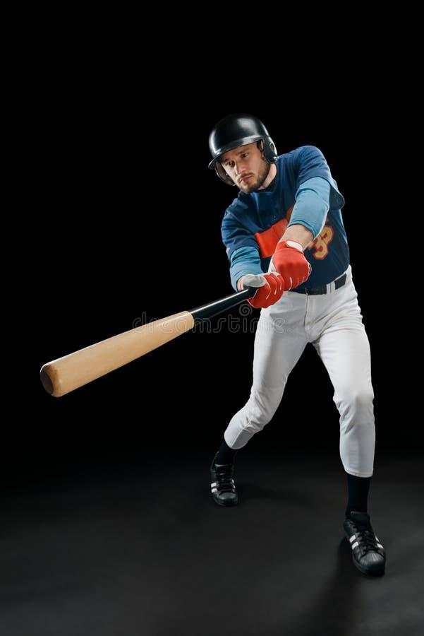 行动的棒球击球手 库存图片