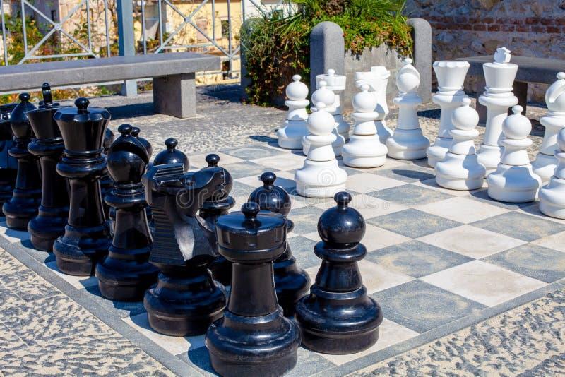 街道下棋比赛 库存图片