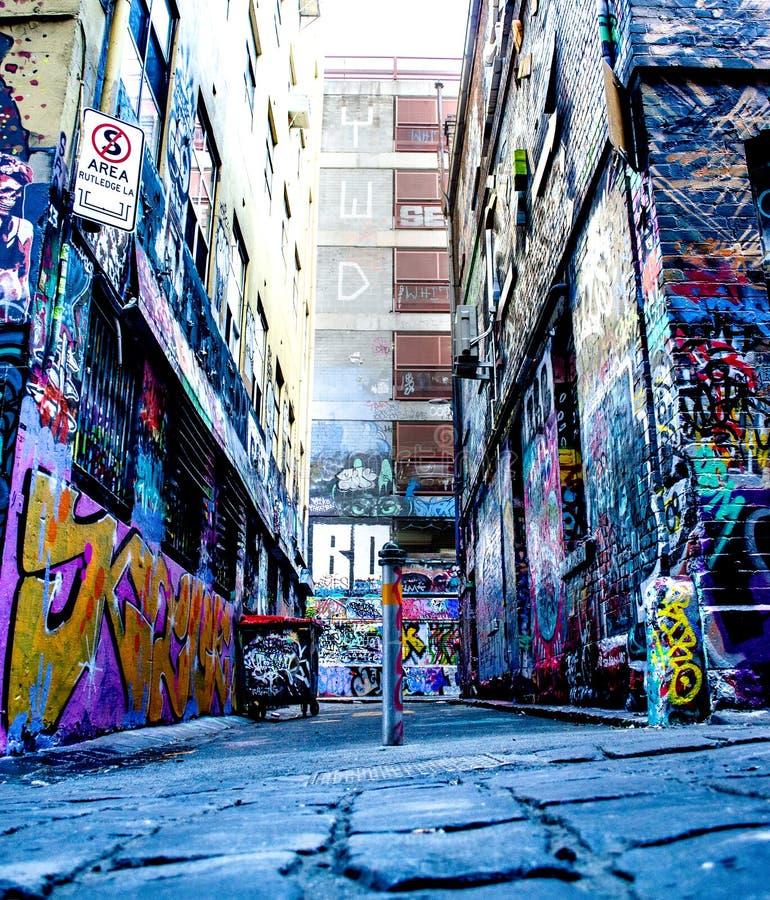 街道艺术墨尔本 免版税库存图片