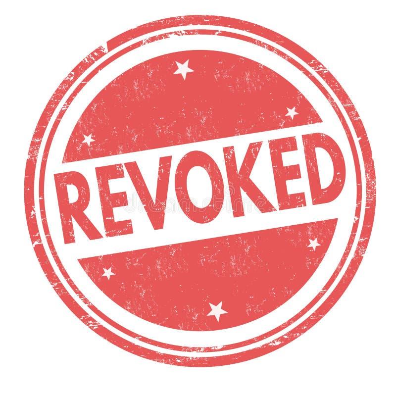被取消的标志或邮票 向量例证