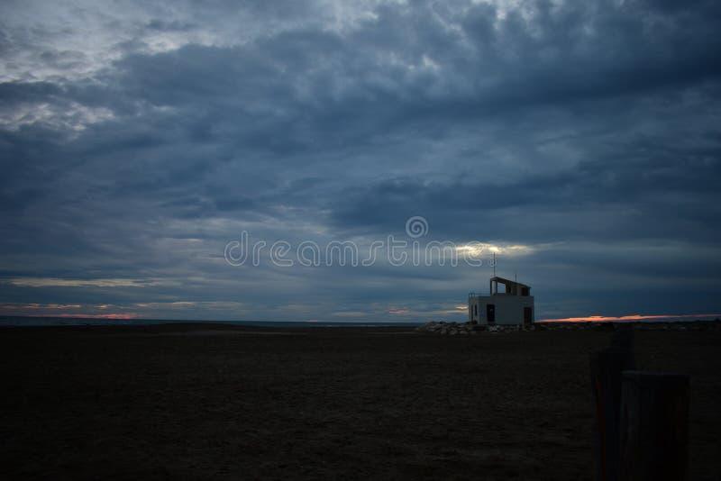 被放弃的海滩Piemanson在法国 图库摄影