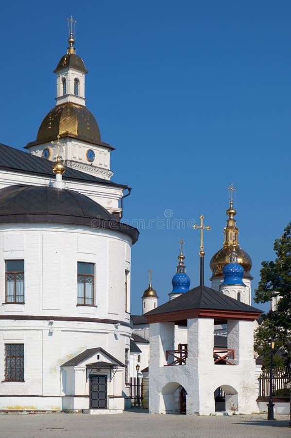 被放逐的Uglich响铃的钟楼在托博尔斯克克里姆林宫 Tobolsk 俄国 免版税库存图片