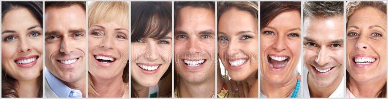 被设置的愉快的人面孔 图库摄影