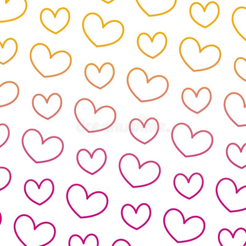 被贬低的线好的心脏爱标志背景 向量例证