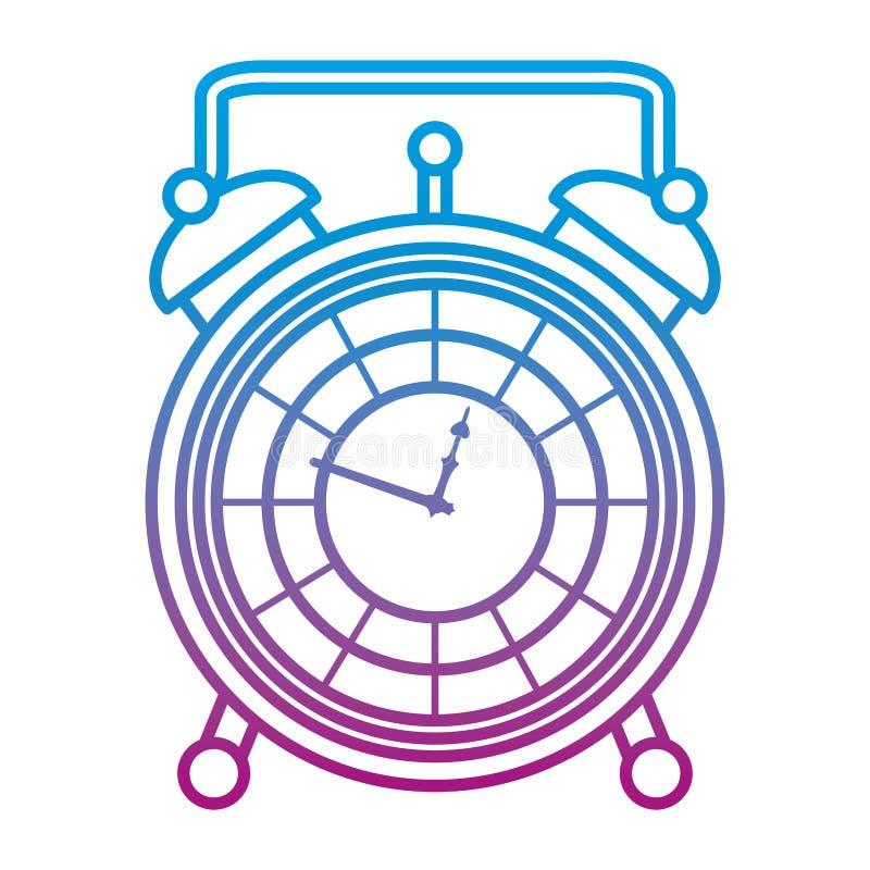 被贬低的线豪华书桌时钟对象设计 库存例证